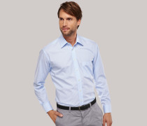 Schiesser gestreiftes Oberhemd in Comfort-Fit-Schnittform für Herren
