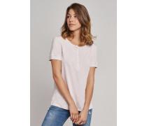 Schiesser Shirt kurzarm mit Knopfleiste rosa - Selected! Premium für Damen