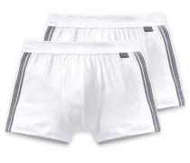 Shorts 2er-Pack weiß