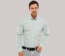 Schiesser Hemd langarm Button-Down-Kragen mehrfarbig kariert - REGULAR FIT für Herren