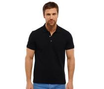 Poloshirt Piquee kurzarm schwarz