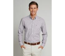 Hemd langarm Button-Down-Kragen mehrfarbig kariert - REGULAR FIT