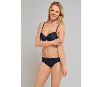 Schiesser Tai Slip Micro-Qualität nachtblau gepunktet - Pure Jacquard für Damen