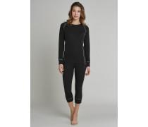 Schiesser Shirt langarm Funktionswäsche extra warm schwarz - Thermo Plus für Damen
