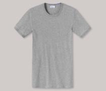 Schiesser T-Shirt Feinripp grau meliert - Revival Ludwig für Herren
