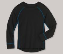Schiesser Shirt langarm Funktionswäsche extra warm schwarz - Kids Thermo Plus für Jungen
