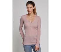 Shirt langarm mit Knopfleiste altrosa - Selected! Premium