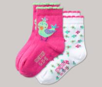 Schiesser Babysocken 2er-Pack mehrfarbig - Tropical Bird für Mädchen