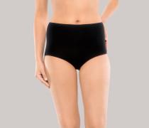 Schiesser Maxi Slips 2er-Pack schwarz - Cotton Essentials für Damen