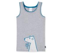 Unterhemd grau meliert bedruckt - Eisbär & Co.