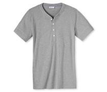 Shirt kurzarm Feinripp grau-melange - Revival Karl-Heinz