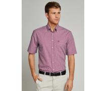 Schiesser Hemd kurzarm Button-Down-Kragen mehrfarbig kariert - REGULAR FIT für Herren