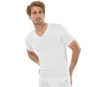 Shirt kurzarm V-Ausschnitt weiß - 95/5,Shirt kurzarm V-Ausschnitt weiß -5/5
