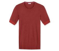 Shirt kurzarm dunkelrot meliert - Revival Karl-Heinz