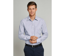 Schiesser Hemd langarm Kent-Kragen mehrfarbig gestreift - REGULAR FIT für Herren