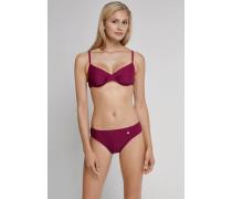 Schiesser Bügel-Bikini mit Tai-Slip aubergine - Aqua Raw Coast für Damen