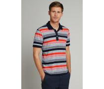 Poloshirt kurzarm Heavy Single Jersey Blockringel rot - Selected! Premium für Herren