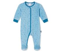 Babyanzug lang Nicki mit Fuß hellblau bedruckt - Eisbär & Co.