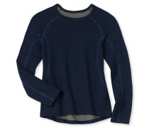 Shirt langarm Funktionswäsche warm dunkelblau - Boys Thermo Light