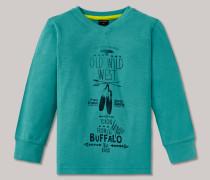 Shirt langarm Flammgarn Kinder-Oberbekleidung Wilder Westen türkis - Rebell Boy für Jungen