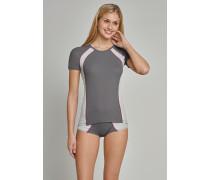 Shirt kurzarm Funktionswäsche anthrazit - Sport Extreme für Damen