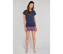 Shirt kurzarm Raglan-Schnittform graublau - Uncover