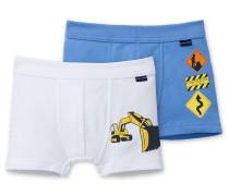 Hip Shorts Feinripp (2er Pack) mehrfarbig - Baustelle