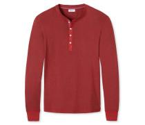 Shirt langarm dunkelrot meliert - Revival Karl-Heinz