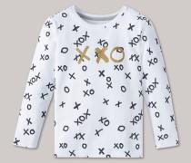 Schiesser Shirt langarm unisex XOXO weiß - Mix & Relax