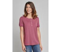 Schiesser Shirt kurzarm mit Knopfleiste malve - Selected! Premium für Damen