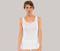 Trägertops 2er-Pack mit Stickerei weiß - Cotton Essentials für Damen