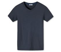 Shirt kurzarm blau