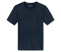 Shirt kurzarm Jersey rundhals dunkel