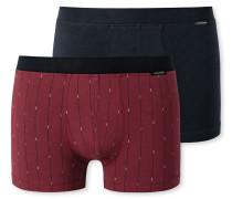 Shorts 2er-Pack dunkelblau bordeaux