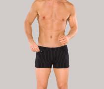 Bade-Retro Wirkware Reißverschlusstasche schwarz-grau gestreift - Aqua für Herren