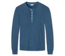 Shirt langarm blau meliert - Revival Karl-Heinz
