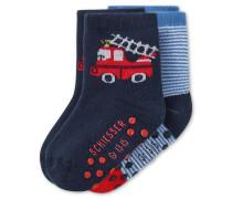 Babysocken 2er-Pack mehrfarbig - Feuerwehrmann