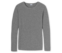 Pullover Strick Wolle/Kaschmir grau meliert - Revival Julius