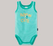 Schiesser Babybody ärmellos grün geringelt - Beach Cruiser für Jungen