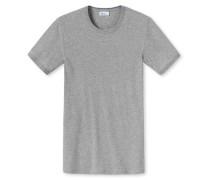 T-Shirt Feinripp grau meliert - Revival Ludwig