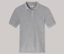 Poloshirt Retro-Piquee grau meliert - Revival Paul für Herren