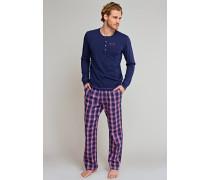 Shirt langarm mit Knopfleiste dunkelblau - Uncover