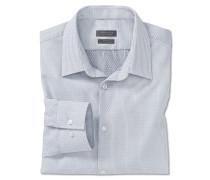Hemd langarm bügelfrei Kentkragen weiß gemustert - SLIM FIT
