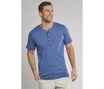Shirt kurzarm Feinripp Henley Knopfleiste royal - Selected! Premium,Shirt kurzarm Feinripp Henley Knopfleiste royal -elected! Premium