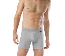 Shorts mit Eingriff 2er-Pack grau meliert - Authentic