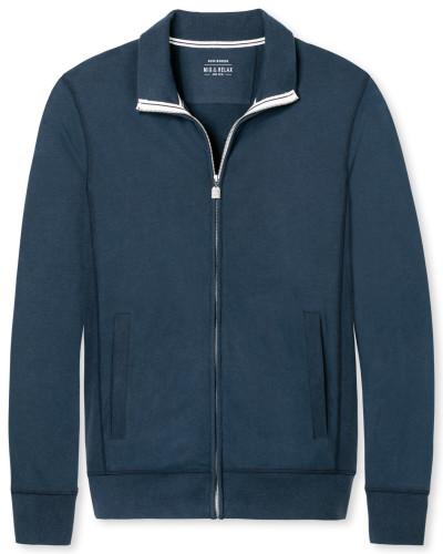 Stehkragenjacke mit Reißverschluss Jersey dunkelblau - Mix & Relax