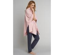 Cape Baby-Fleece ohne Ärmel und Verschluss rosé - Mix & Relax Lounge für Damen