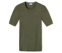 Shirt kurzarm khaki meliert - Revival Karl-Heinz