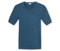 Shirt kurzarm blau meliert - Revival Karl-Heinz