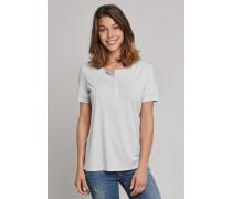 Schiesser Shirt kurzarm mit Knopfleiste silber - Selected! Premium für Damen